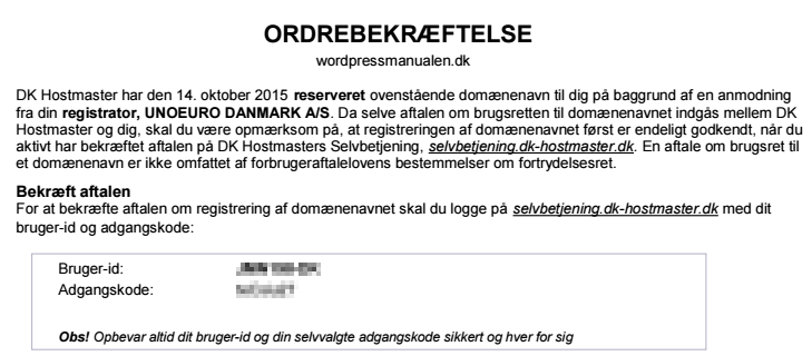 godkend domæne hos DK-hostmaster