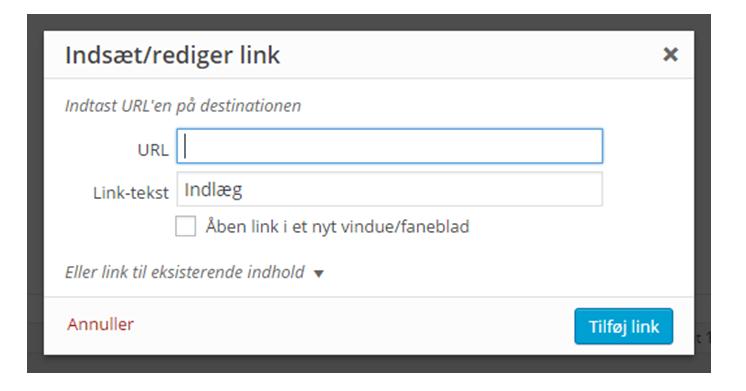 Sådan indsætter du links i WordPress