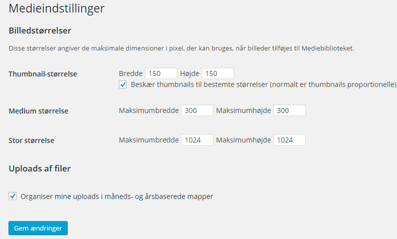 Medier i WordPress
