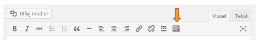 tekstredigering i WordPress