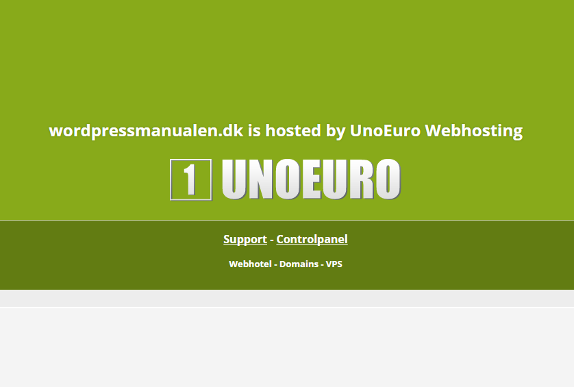 Installation af WordPress hos UnoEuro
